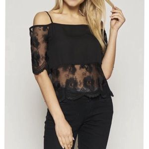 Tops - Off Shoulder Lace Top